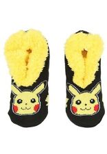 Pokemon Socks Pikachu Cozy Fluffy Faux Fur Lined Slipper Socks Anti Slip