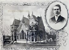 "Pawnee City NE ""First United Presbytebian Church"" © 1900 Reprint Vintage Photo"