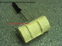 """NEW 6"""" Large Ashler Concrete cement Landscape Curbing texture Imprint Roller"""