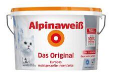 Alpinaweiß Das Original, 4 L. weiße Wandfarbe höchste Deckkraft, DO, Spritz-Frei