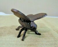 """Cast Iron Butterfly Figure Wrought Insect Shabby rustic paper weight 2"""" brown"""