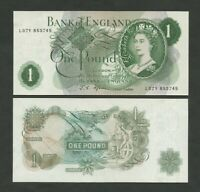BANK OF ENGLAND  QEII  Fforde  £1  1967  B301  Uncirculated  Banknotes