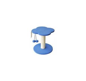 Tiragraffi  gatti Fiorellino in sisal con gioco H 33 cm rosa o blu Ferribiella