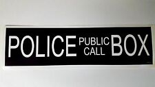 POLICE PUBLIC CALL BOX * Dr Who * Tardis * BBC * Decal  Bumper Sticker Time Lord