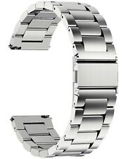 Band with Quick Release Lock Usa Seller! Two (2) New 24mm Stainless Steel Watch