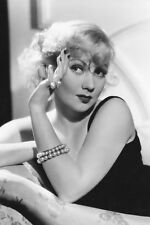 Ann Sothern 11x17 Mini Poster Young Sexy In Black Dress Seated On Couch