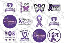 Alzheimers Cupcake Toppers Edible Icing Cake