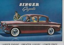 ROOTES SINGER GAZELLE 1600cc SALES BROCHURE EARLY 60's