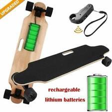 250W Elektrisch Elektro E-Skateboard Longboard mit Fernbedienung Doppelmotor DHL