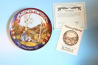"VINTAGE COLLECTOR PLATE BOX COA ""VOICES OF SPRING""  WALTZES OF JOHANN STRAUSS"