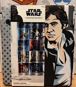 *NEW* STAR WARS Shower Curtain 70 x 72 KOHL'S Collection MSRP$39.99