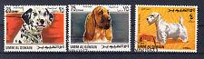 Umm-al-Qiwain Briefmarken 1967 Hunderassen Mi.Nr.211+13+17