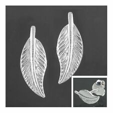 Ohrstecker Blatt 12 x 4,5 mm Ohrringe 925 Silber