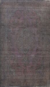 Vintage Overdyed Traditional Distressed Handmade Evenly Low Pile Area Rug 8x12