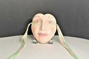 1980 Cast Of Thousands Ceramic Female Face Mask By Claudia Cohen  (#4)