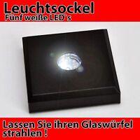 LED Leuchtsockel Mehrfarbig für 3D//2D Laser Fotos Glaswürfel Geschenk Geburtstag