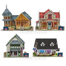 British Flavor World Style 4 pieces CubicFun 3D Puzzle Model Jigsaw Paper Model