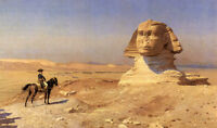 Dream-art Oil painting Napoleon in front of the Sphinx Desert Landscape canvas