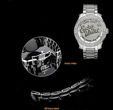 MARC ECKO MEN'S TIMES SQUARE NEW YORK CRYSTALS WATCH E15505G1