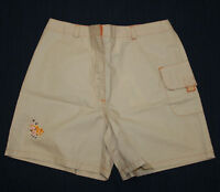 JACADI Girl's Court String Beige & Orange Fish Shorts Sz 8 Years (128cm) NEW $38