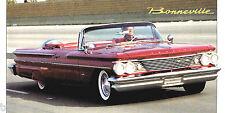 1960 Pontiac BONNEVILLE SPEC SHEET / Brochure: 389 3x2