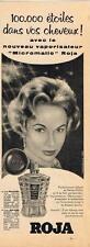 PUBLICITE ADVERTISING   1956   ROJA  vaporisateur MICROMATIC