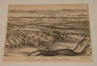 1885 magazine engraving ~ HOLYROOD PALACE AND ABBEY Scotland