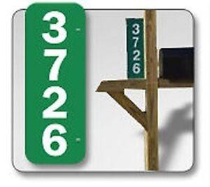 Reflective Green Address Sign Kit Plaque House Number Set 911 Safety Hi Viz