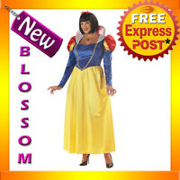 C811 Snow White Deluxe Disney Fairytales Plus Size Fancy Dress Halloween Costume