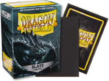 Matte Dragon Shields Standard Size Card Protector Sleeves MTG 100ct Slate box