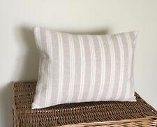 Susie Watson  Cushion Cover CAMBRIDGE STRIPE in BEECH  40 x 30 cms