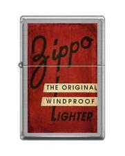 Zippo 82139 vintage zippo box top original windproof distressed red Lighter