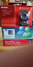Microsoft LifeCam VX-2000 Webcam Camera, Black PC USB Video Message Skype Yahoo