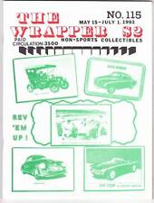 THE WRAPPER #115 - 1992 Non-sports card fanzine - HORRORS OF WAR, antique autos