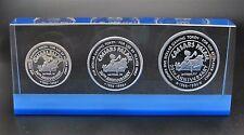 Rare 1986 Caesars Palace Casino .999 Silver Token Set $1-$5-$25 20th Anniversary