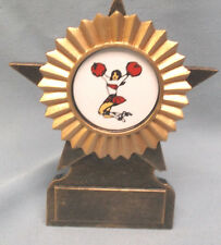 CHEERLEADER trophy resin star with pon pon insert RF11C combined shipping