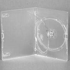 100 x AMARAY ORIGINALE DOPPIO DVD chiaro caso singolo Vassoio da 14 mm SPINE-confezione di 100
