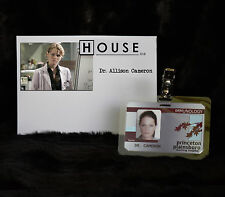 """TV SERIES HOUSE MD EXACT REPLICA COLLECTOR PROP """"DR ALLISON CAMERON"""" HOSPITAL ID"""