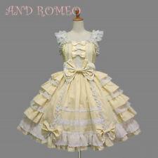 Women's Lolita Ruffle Bowknot Dress Skirt Ball Gown Cosplay Costumes Plus Size
