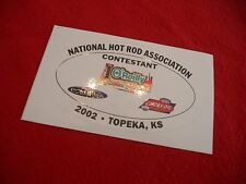 NHRA drag race 2002 O'Reilly Summer Nationals Topeka KS contestant decal Castrol