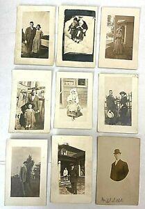 Antique & Vintage RPPC and Studio Postcard Lot 729-1