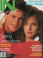 IN Fashion magazine March April 1988 Rob Lowe Marlee Matlin 053019DBE