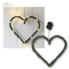 LED Batterie-tannen-dekoration Heart With Timer Ip44 Door Wreath Deco Outdoor