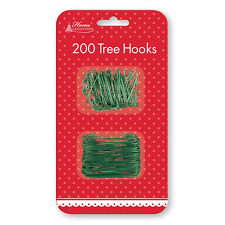 200 Christmas Green Wire Tree Hooks MK16 9PX