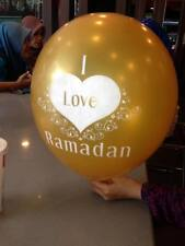 Pack 10 Ramadan Balloons Happy Decoration Gift Party Islam Celebration Kids Eid