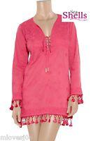 MELISSA ODABASH Pink Embroidered Dress Cover Up Beach Dress Kaftan Bikini BNWT