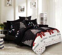 Merry Christmas Duvet/Doona/Quilt Cover Set Queen/King/Super King Size Bed New
