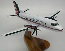 Saab 340 Colgan Air Airplane Mahogany Kiln Dry Wood Model Large New