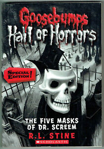 GOOSEBUMPS,HALL OF HORRORS,THE FIVE MASKS OF DR. SCREAM #3, AS NEW,1st ed, USA.