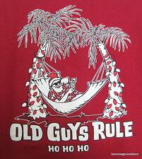 Old Guys Rule Christmas Santa Tee Shirt Medium Cotton,Xmas,Holiday, Collectible